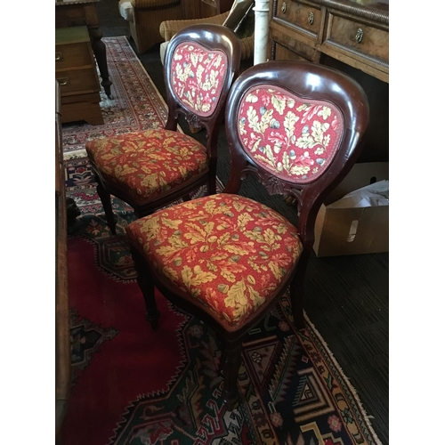 118 - Set of six Victorian style mahogany baloon back dining chairs....