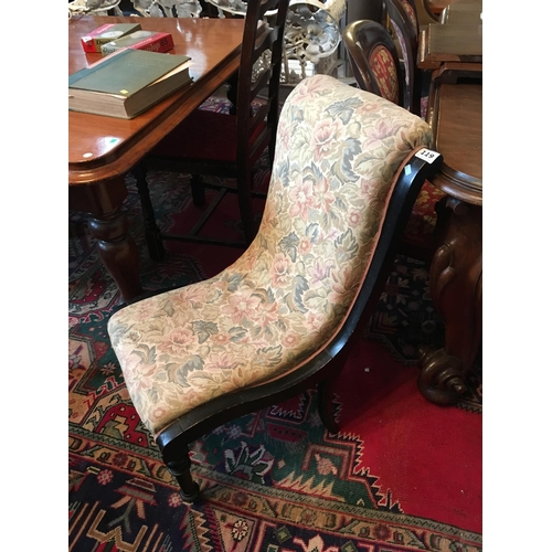 119 - Victorian tapestry covered ladies chair....