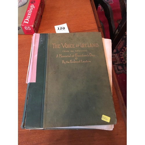 120 - The Voice of Ireland book edited by William G Fitzgerald....