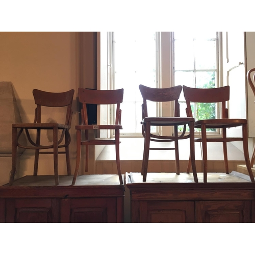 158 - Four bentwood chairs....