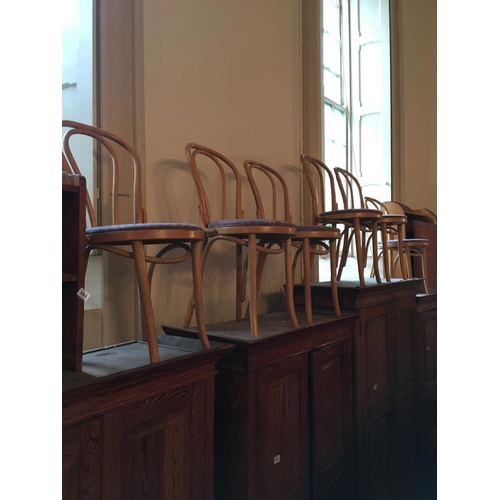 169 - Set of six bentwood chairs....