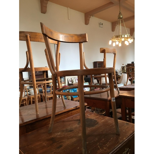 189 - Ten bentwood chairs....