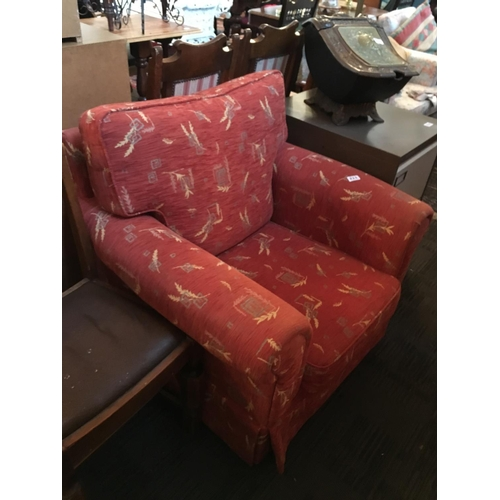 211 - Upholstered armchair....