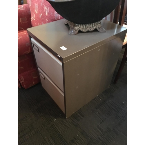213 - Two drawer metal filing cabinet....