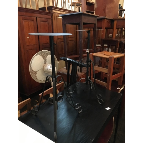220 - Two metal plant stands....