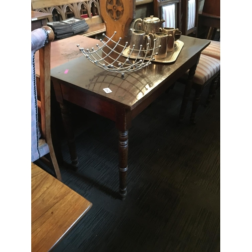 253 - Georgian mahogany side table....