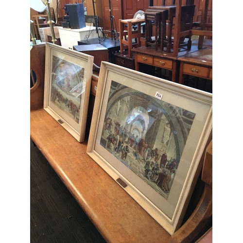 254 - Pair of framed Raphael scenes....
