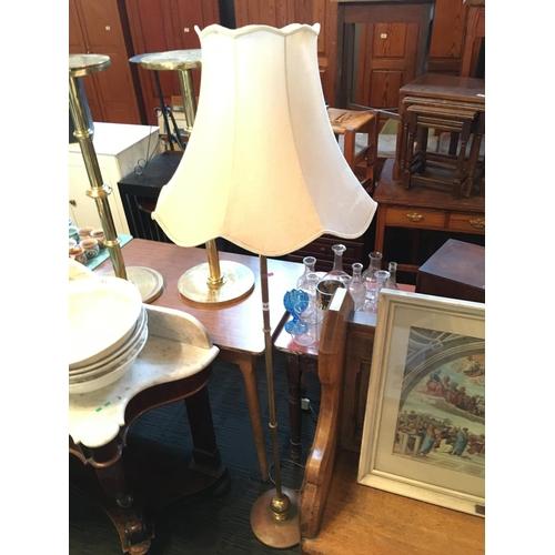 260 - Brass standard lamp....