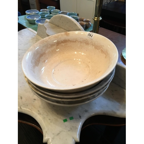 261 - Four Victorian wash bowls....