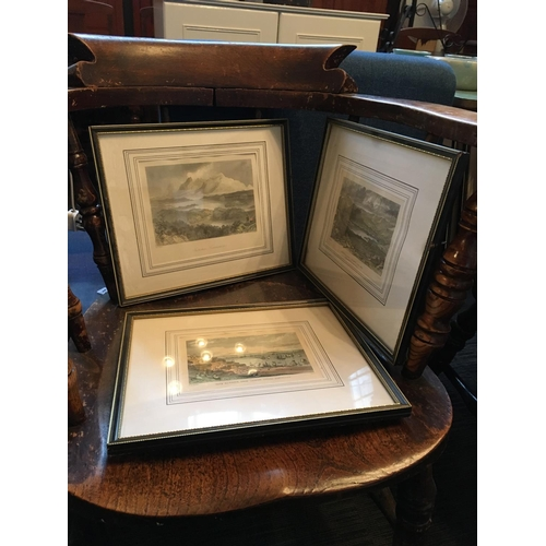 266 - Set of Irish interest engravings including Mayo Cork etc. scenes....