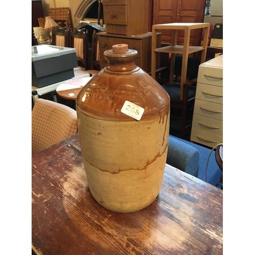 268 - Earthenware whiskey jar....