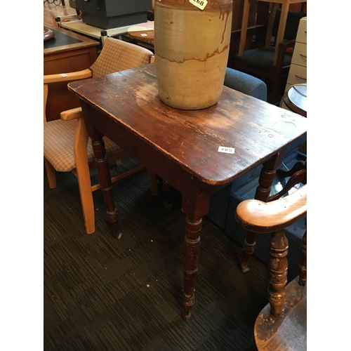 269 - 19th. C. pine table....