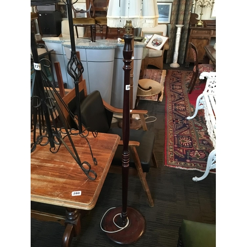 281 - Mahogany standard lamp....