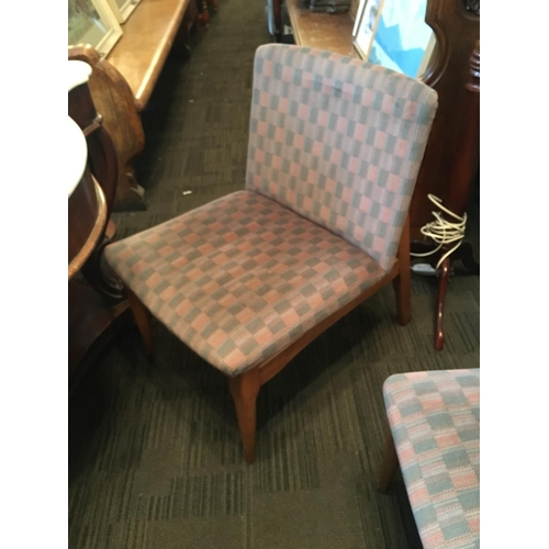 293 - Set six 1970s upholstered dining chairs....
