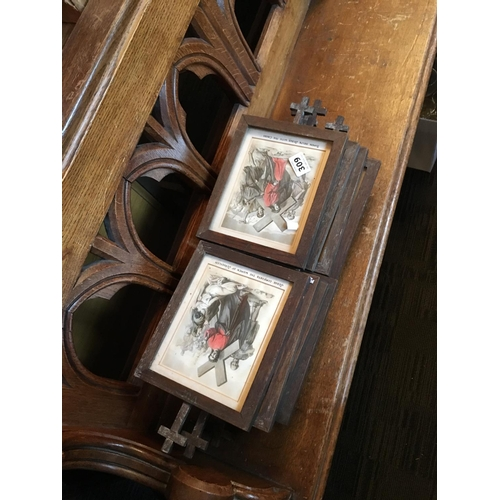 309 - Set of stations of the cross framed....