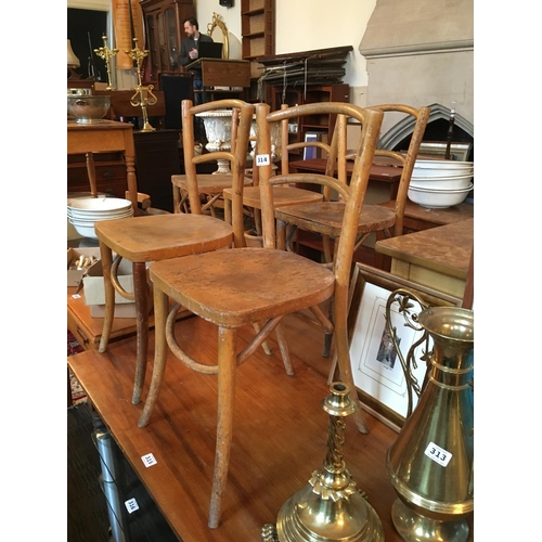 314 - Six bentwood chairs....