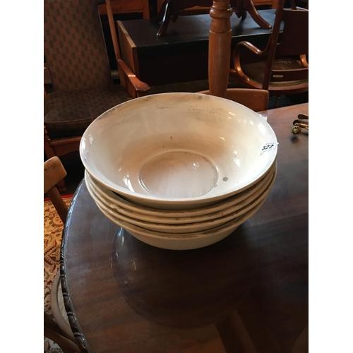 322 - Five Victorian wash bowls....