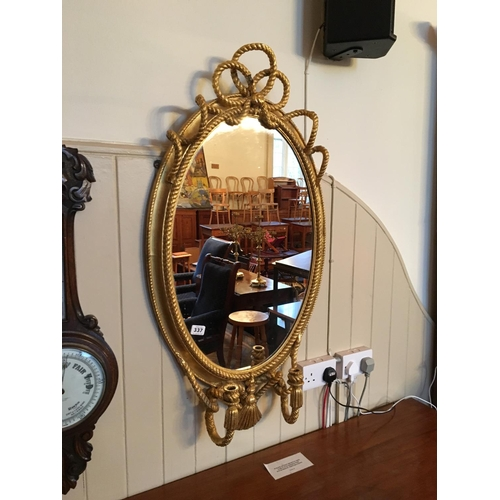 337 - Oval gilt pier mirror....