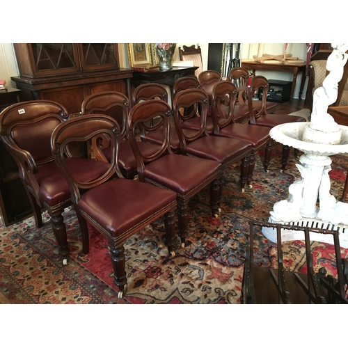 356 - Set 11 WIV carved mahogany side chairs ( 9 + 2 )....