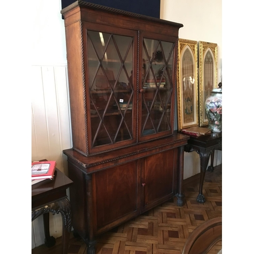 361 - Regency two door mahogany astral glazed bookcase....