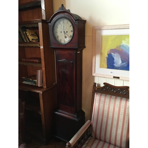 368 - 19th. C. mahogany cased grandfather clock....