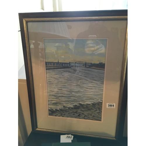 384 - Raymond Balfe Drogheda viaduct painting....