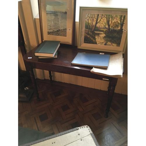 385 - Victorian mahogany side table....