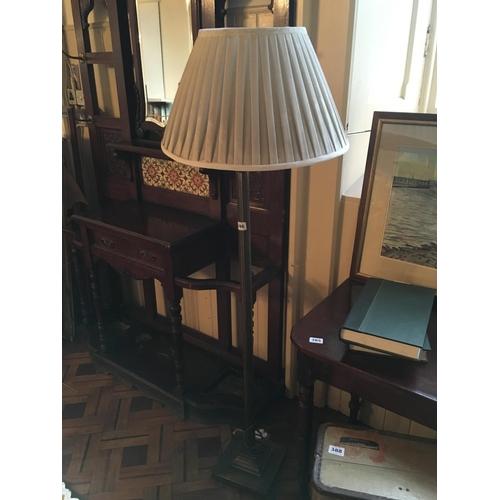 386 - Corinthian column brass standard lamp....