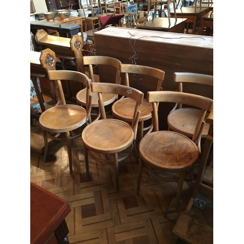 391 - Six bentwood chairs....