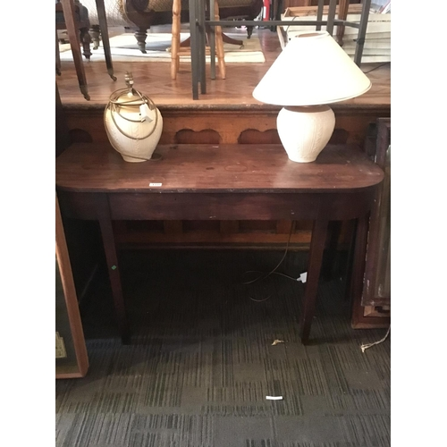 410 - Georgian mahogany side table....