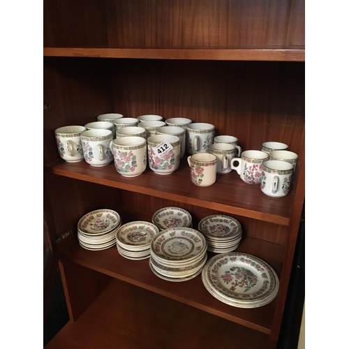 412 - Arklow Indian tree cups and saucers....