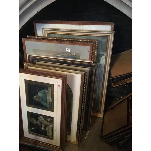 417 - Good collection of gilt framed pictures and prints....