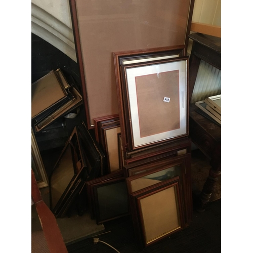 423 - Job lot of picture frames....