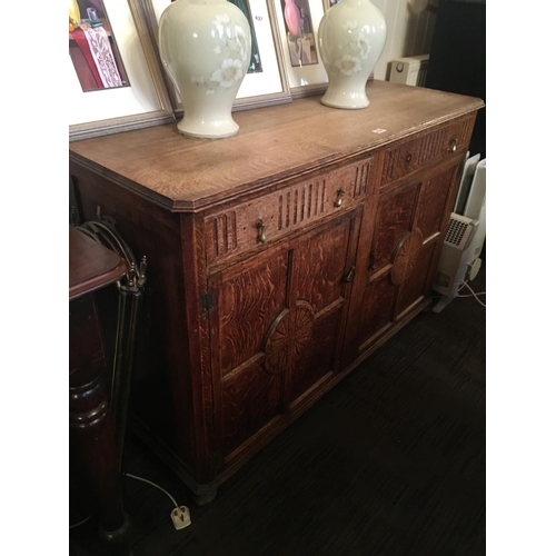 439 - Oak panelled door sideboard....