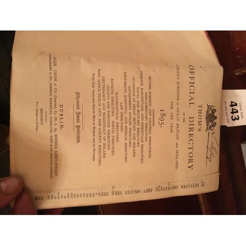 443 - Thomas directory 1895...