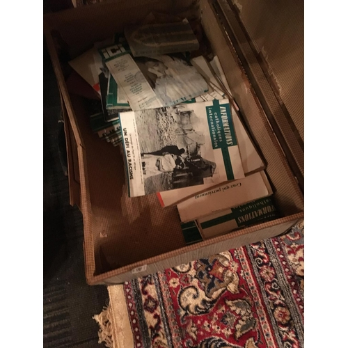 469 - Suitcase with pamphlets....