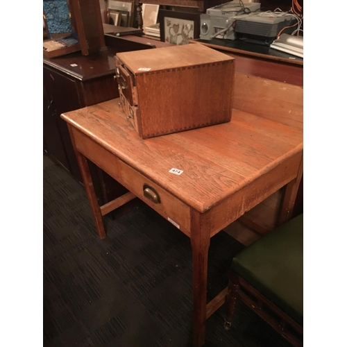 474 - Pitch pine study table....
