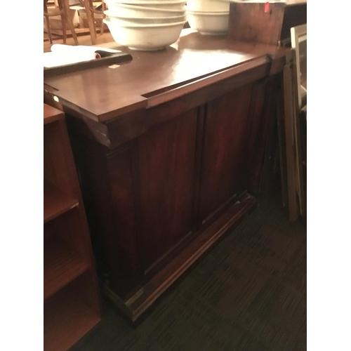 478 - Victorian mahogany cabinet....