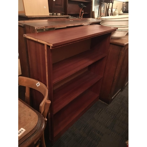 481 - Mahogany floor bookcase....