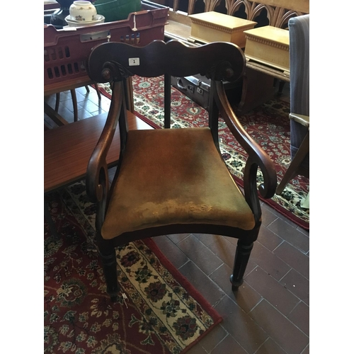 1 - William IV carver chair....