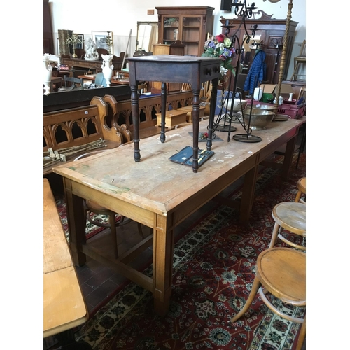 10 - Long refectory table. 9' x 3'....