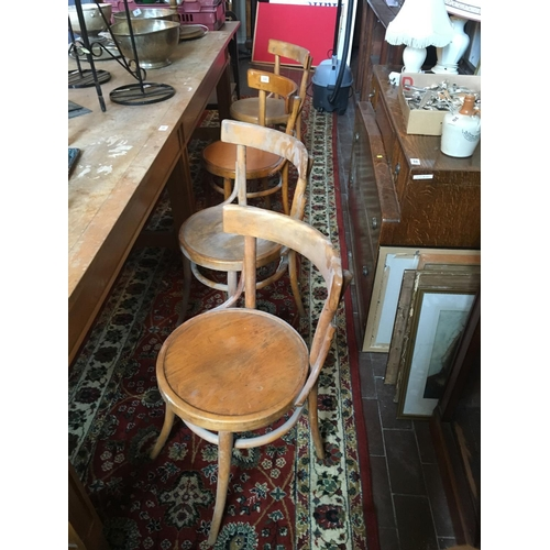 11 - Set of eight bentwood chairs....