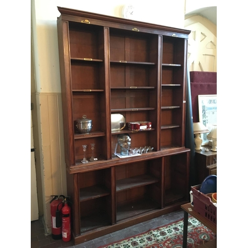 16 - 19th. C Mahogany open shelf bookcase....