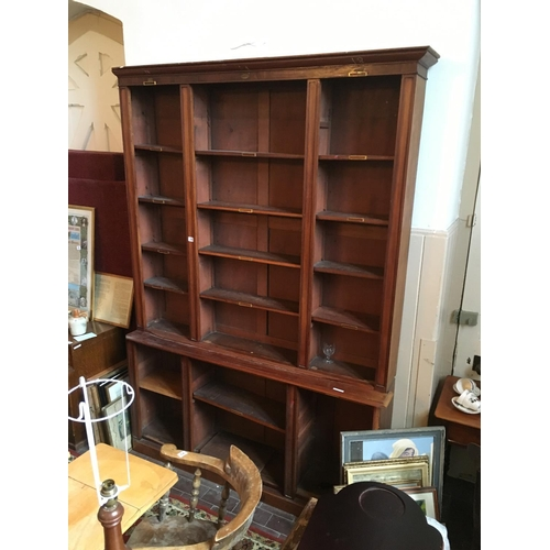 24 - 19th. C mahogany open bookcase....
