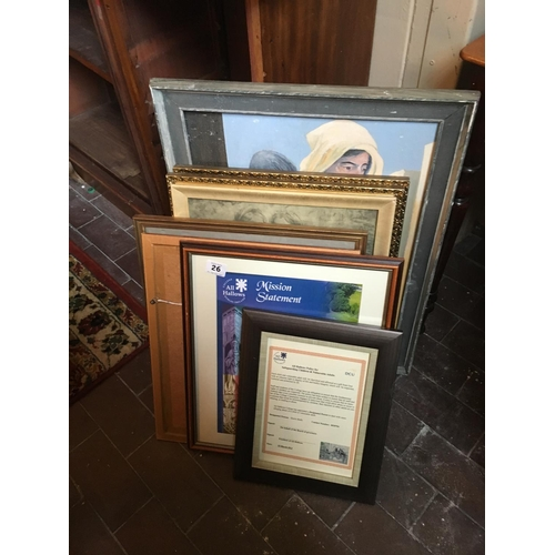 26 - Lot of gilt and other framed pictures....