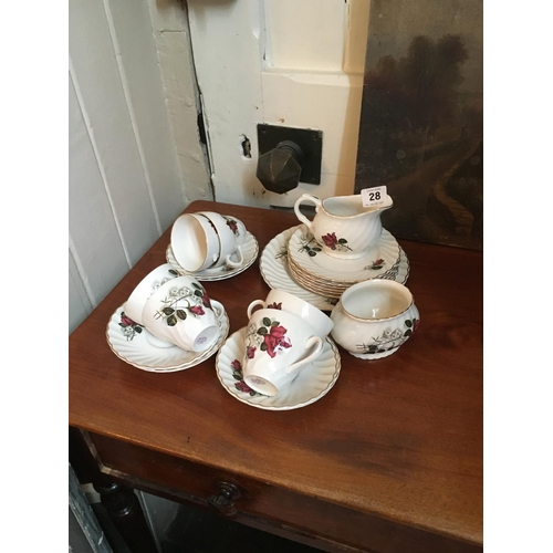 28 - Old Foley china tea set....