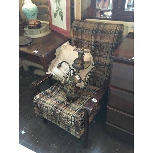 38 - Pair tweed covered armchairs....
