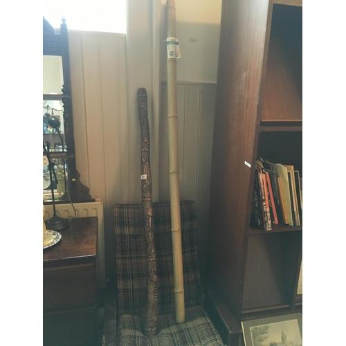 42 - Digeridoo and cane pole....