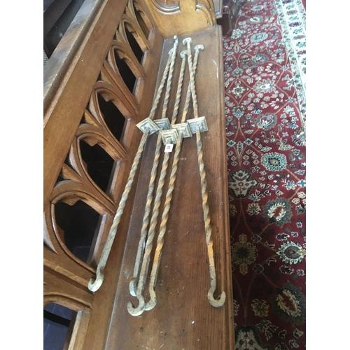 48 - Five metal hooked brass fittings....