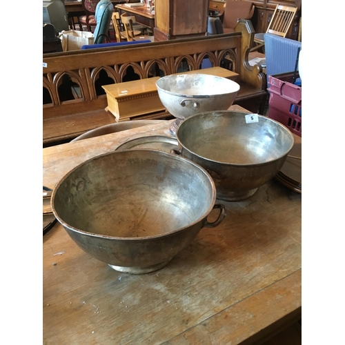 5 - Three silver plated bowls and tray....